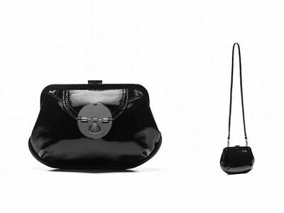 AU69 • Buy Mimco Hybrid Black Patent Leather Clutch Shoulder Bag RRP $199 BNWT - Clearance*