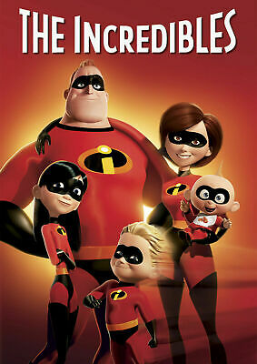 Disney Pixar The Incredibles Movie Poster Iron On Tee T-Shirt Transfer A5 • 1.29£
