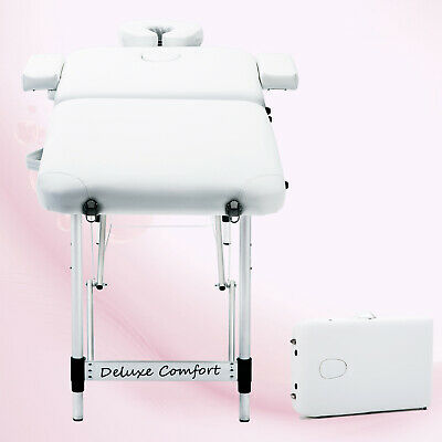 Lightweight Portable Folding Massage Table Tattoo Beauty Salon Bed Therapy Couch • 51£