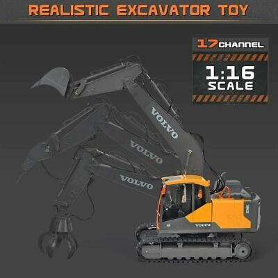 NEW DOUBLE E RC Excavator Construction Truck 17 Channel 1/16 Scale Truck Digger • 129.99£