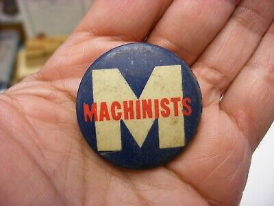 $9.99 • Buy Vintage Pin Back Button - Machinists Trade Union
