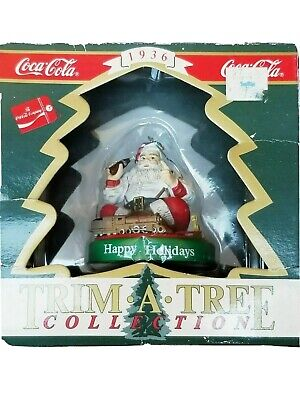 Coca Cola Trim A Tree Christmas Ornament Santa And Train From 1936 Advertisement • 7.79£