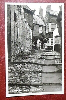 Vintage Postcard,  Robin Hood's Bay,  The Openings,   Whitby, North Yorkshire RP • 2.50£