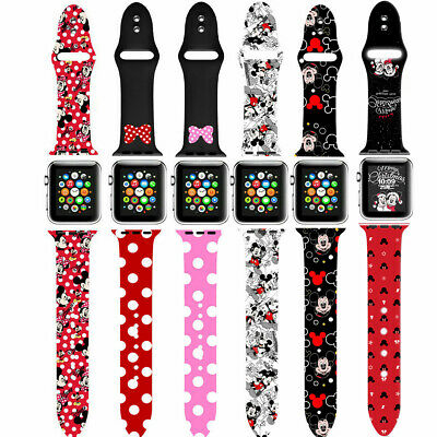 $ CDN12.11 • Buy Band For Apple Watch Series 6 5 4 3 2 1 SE Replacement Mickey Minnie Mouse Strap
