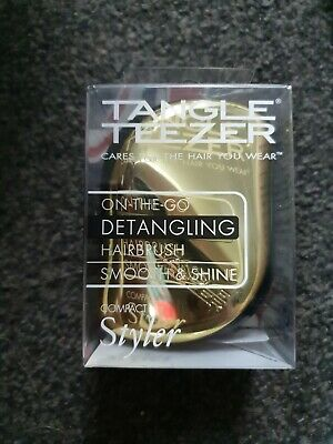 Tangle Teezer Compact Hair Styler - Gold - New Boxed • 7£