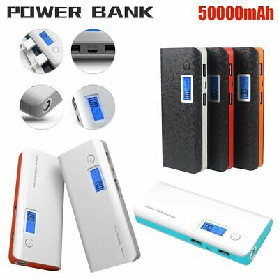 AU20.39 • Buy 50000mAh Power Bank Universal USB Fast Charge Battery Charger For Mobile Phone