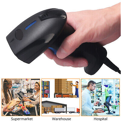 Handheld Barcode Scanner 1D CCD Wired Continuous Bar Code Reader • 15.99£
