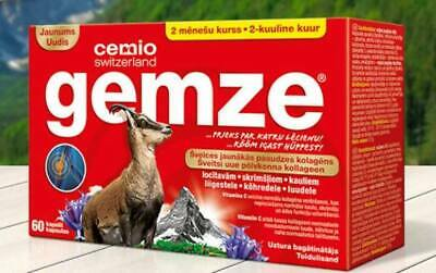 CEMIO GEMZE Pure Collagen With Vitamin C For Joints Cartilage And Bones 60 Caps • 25.01£