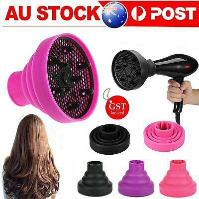 AU12.75 • Buy Silicone Hair Dryer NEW Universal Salon Travel Foldable Diffuser Professional