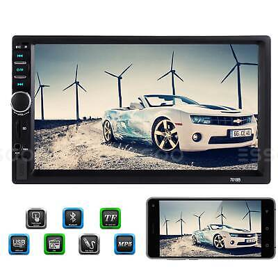AU43.99 • Buy 7  2 DIN Car Stereo Radio MP5 MP3 Player Bluetooth FM Touch Screen AUX Head Unit