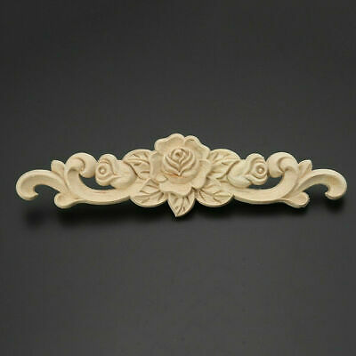 AU7.09 • Buy Wooden Carved Applique Furniture Unpainted Mouldings Decal Onlay Home DIY Decor