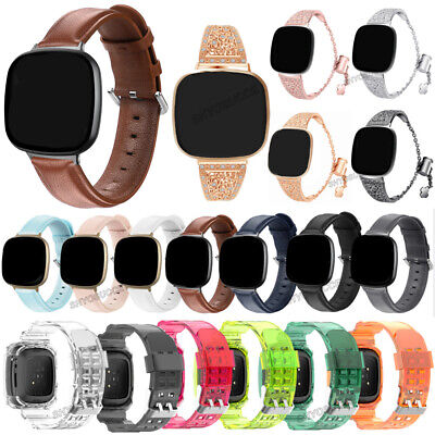 Leather Silicone Metal Watch Band Strap Bracelet For Fitbit Versa 3/Fitbit Sense • 6.93£