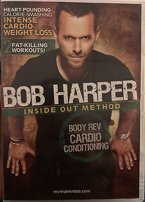 EXERCISE DVD - Bob Harper Inside Out Method - BODY REV CARDIO CONDITIONING • 8.95£