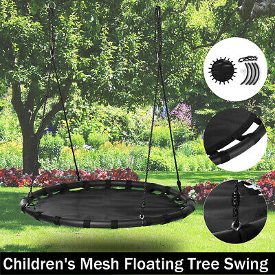 Giant Tree Swing For Kids 44  Large Round Outdoor Saucer Mesh Swing Adjust  • 92.42£