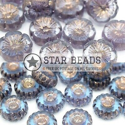 £3.80 • Buy Czech Table Cut Glass Daisy Beads For Jewellery Making - Pick Colour & Size