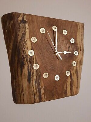 Oak And Cartridge Clock. Perfect Shooters Gift • 60£