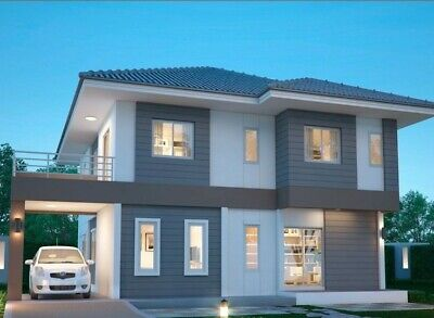 Custom House Home Building Plans 5 Bed Room & 3 Bath Room With Garage & CAD File • 7.86£