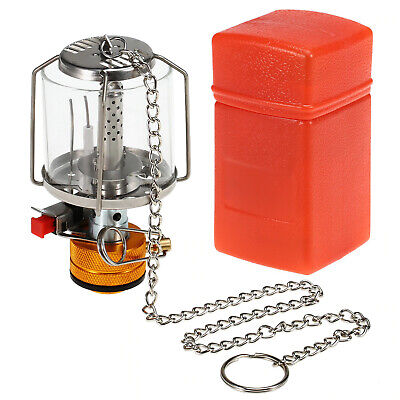 £14.23 • Buy Camping Lantern Glass Gas Lamp Mini Camping Portable Gas Light Equipment Outdoor