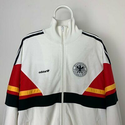 Germany Adidas National Team 1986-1987 White Track Top Size Large/XL • 149.99£
