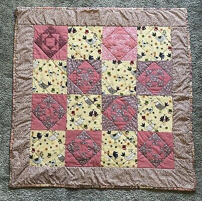 £9 • Buy Handmade Quilt Cot Quilt Play Mat By Project Linus UK 88 X 88cms