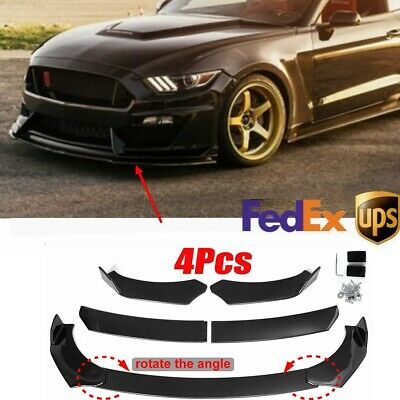 $57.53 • Buy Carbon Fiber Front Bumper Lip Spoiler Splitter Protector For Ford Mustang Focus