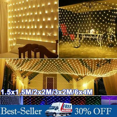LED Net Lights Fairy String Lamp Indoor Outdoor Wedding Christmas Tree Decor New • 12.49£