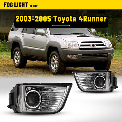 $38.35 • Buy Fog Lights Fits 03-05 Toyota 4Runner Clear Lens Pair Replacement Driving Lamps