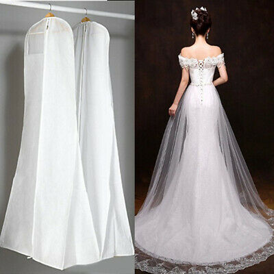 Extra Large Wedding Dress Cover Breathable Bridal Gown Garment Storage Bag White • 9.01£