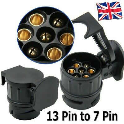 13 Pin Car To 7 Pin Trailer Adapter Plug Converter Tow Bar For Euro Cars Trucks • 6.31£