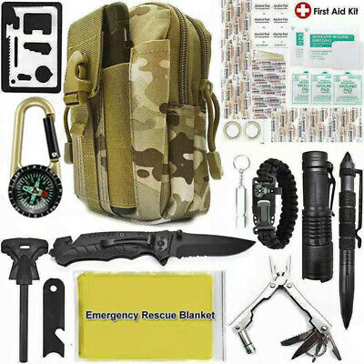 $35.14 • Buy 40 In 1 Survival Outdoor Camping Kit Military Tactical Emergency Tools Molle Bag