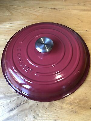 Le Creuset Signature 30cm Casserole Lid Discontinued Colour! Cerise Volcanic?red • 49.95£