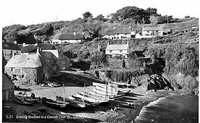 £6.55 • Buy Evening Shadows In A Cornish Cove Cadgwith - Real Photo - Unposted '30s - Penpol
