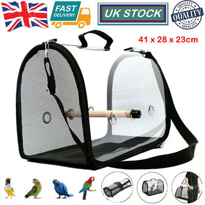 £21.08 • Buy Bird Travel Bag Parrot Carrier Cage Perch Backpack Outdoor Breathable 41*23*28cm