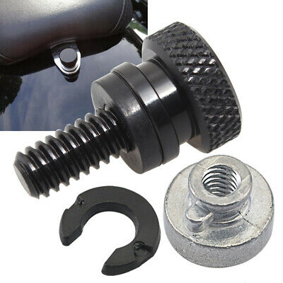 $5.29 • Buy 1/4  Black Rear Fender Passenger Seat Bolt Tab Screw Nut For Harley Sportster XL