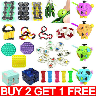 Autism ADHD Stress FIDGET TOYS Stress Relief Hand Spinners Sensory Toys Chew YY • 2.39£