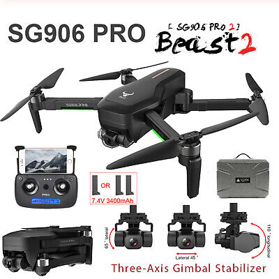 AU371.98 • Buy SG906 Pro 2 1.2KM FPV 3-axis Gimbal 4K Camera Wifi GPS RC Drone Quadcopter U