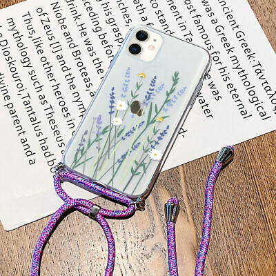 Cross Body Lanyard Strap Floral Phone Case Cover For IPhone 12 11 Pro XS XR 8 7 • 4.45£