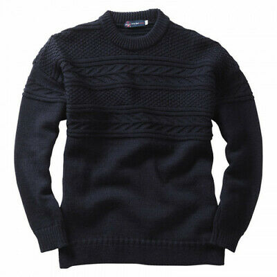 Pure British Wool Guernsey Sweaters Navy • 60£