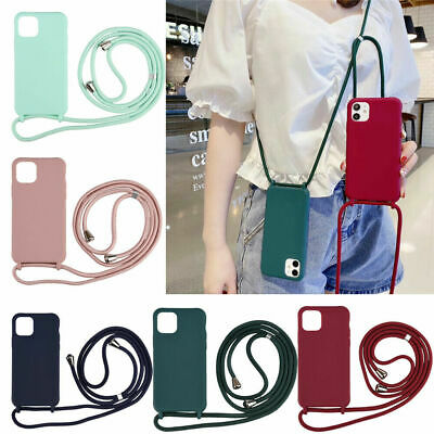 Crossbody Necklace Cord Lanyard Rope Protective Phone Case For IPhone 11 Pro Max • 5.89£