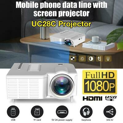 AU68.77 • Buy Mini Portable Pocket Projector HD 1080P LED Home Theater Video Projector HDMI AV