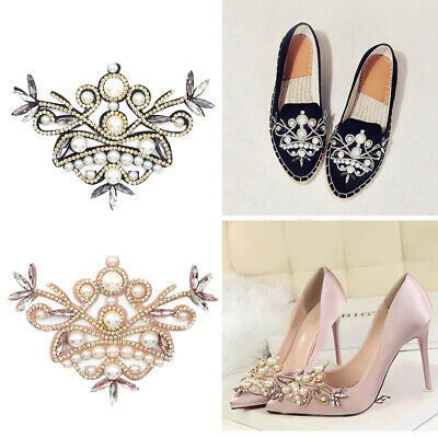£2.52 • Buy Diamante Rhinestone Shoe Clips Charms Buckle Removable Crystal Shoe Decoration
