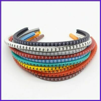 Cable Wire Marker Colored Number Tag Label Soft PVC Electrical Management Supply • 3.50£