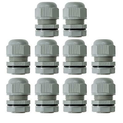 £5.89 • Buy Ip68 M20 Cable Gland 20mm Grey Waterproof Compression Locknut Washer Outdoor