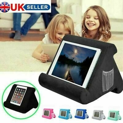 UK Soft Pillow Lap Stand For IPad Tablet Multi-Angle Phone Cushion Laptop Holder • 12.99£