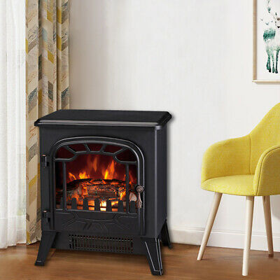 1850W Electric Fireplace Heater Stove Log Burning Fire Flame Effect Freestanding • 64.90£
