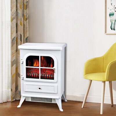 Fireplace Electric Heater Log Burning Flame Effect Living Room Stove 1800W • 98.90£