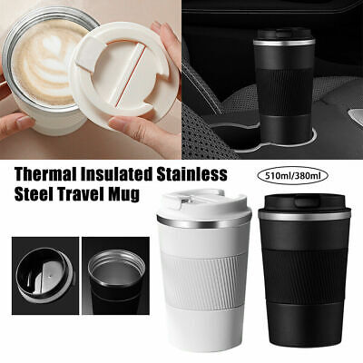 £9.79 • Buy Stainless Steel Leakproof Insulated Thermal Travel Coffee Mug Cup Flask 510ML