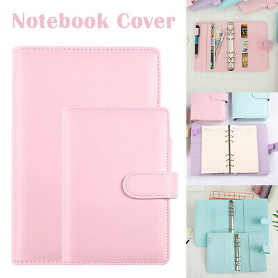 AU17.59 • Buy Classic Loose Leaf Ring Binder Notebook Planner Diary Notebook Cover PU Leather