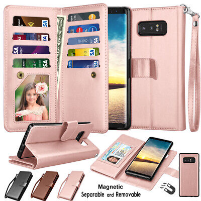 $ CDN12.43 • Buy For Samsung Galaxy Note 8 Wallet Case Leather Card Holder Flip Magnetic Cover