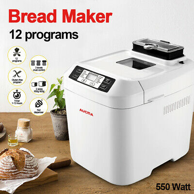 View Details Bread Maker Electric Bread Making Machine 12 Programmes 550W 2L Breadmaker LCD • 71.99£